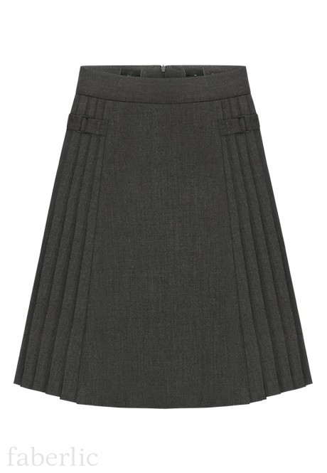 Girls Skirt dark grey melange