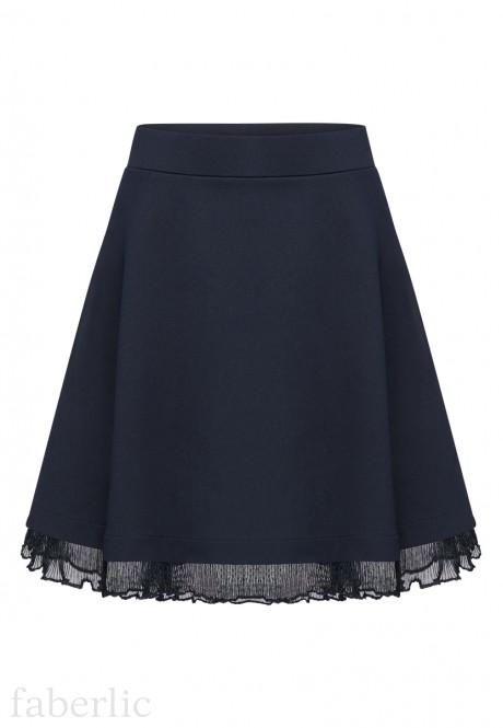 Girls Jersey Skirt ink blue