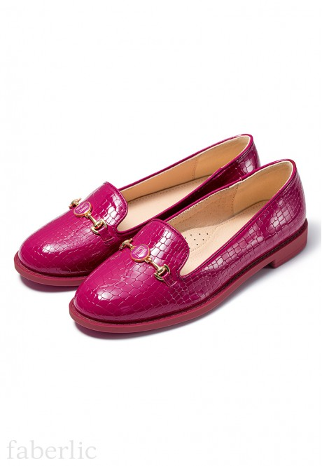Marie Girls Loafers fuschia