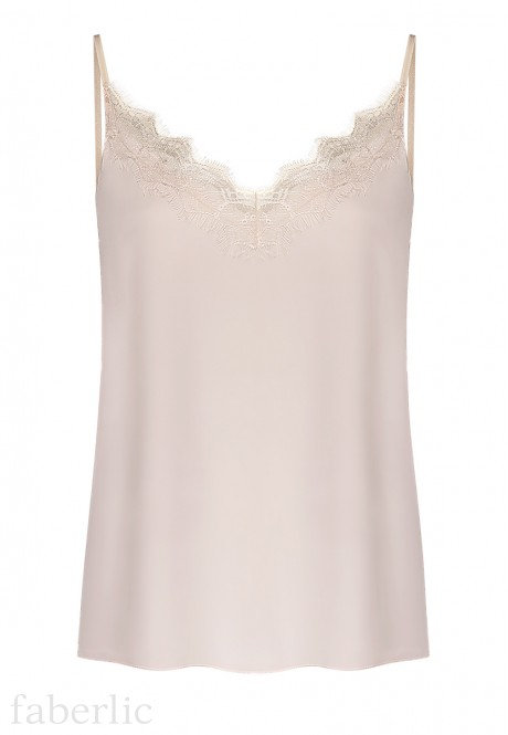 Lace Top champagne