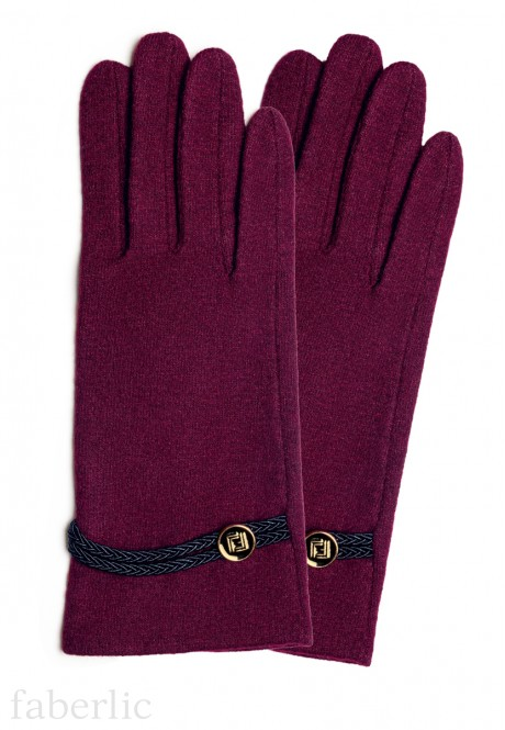 Wool Gloves burgundy