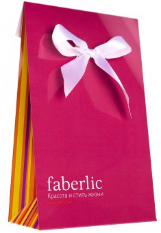 FABERLIC Gift Bag with ribbon 16x25x7cm