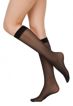 SB200 Faberlic knee high socks 20 den black one size 2 pairs
