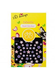 Стикеры для ногтей  3D design nail sticker тон звездочки