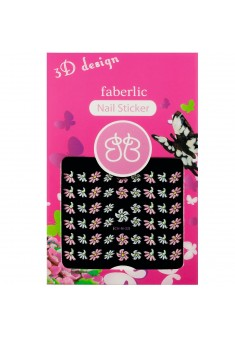 Стикеры для ногтей  3D design nail sticker тон цветочки