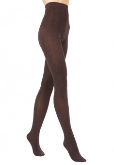 Stretch velour tights brown mélange 120DEN