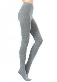 Stretch velour tights grey mélange 200 DEN