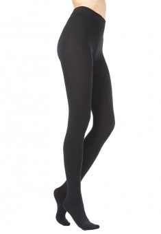 Stretch velour tights black 200 DEN