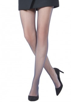 Fishnet stretch tights blue 20 DEN