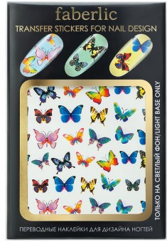 Transfer stickers for nail design Butterflies