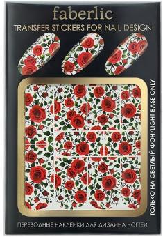 Переводные наклейки для дизайна ногтей  Transfer stickers for nail design Розы арт7157