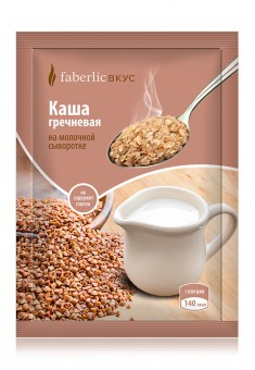 Buckwheat porridge on milk whey Instant food