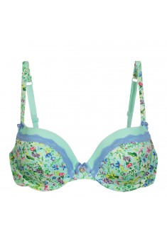 Marceille PushUp Bra printed green