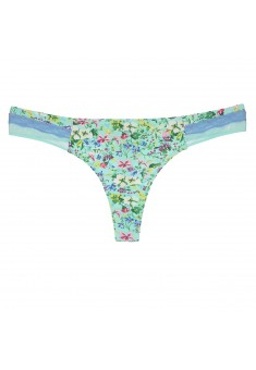 Marceille Thong Briefs printed green