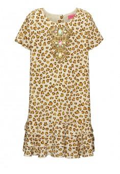 Платье с коротким рукавом для девочки цвет слоновая кость