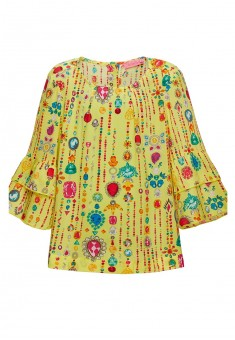 Блузка для девочки цвет лимонный