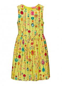 Платье без рукава для девочки цвет лимонный