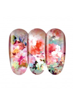 TENDER PEONY TRANSFER STICKERS FOR NAIL DESIGN