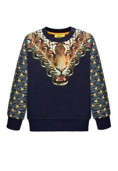 Трикотажный пуловер для мальчика цвет темносиний