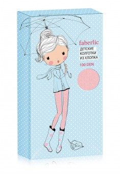 Soft Elastic Cotton Tights 100 DEN baby pink