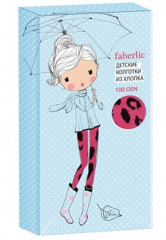 Leopard patterned tights for kids 100 DEN raspberry