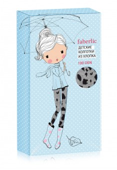 Leopard patterned tights for kids 100 DEN grey