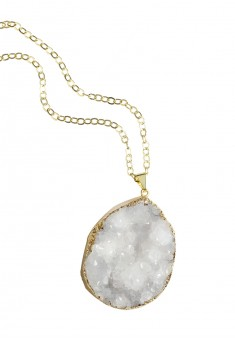 NORTHERN CRYSTALS NECKLACE WITH NATURAL WHITE STONE