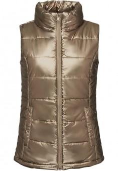 Куртка без рукавов жилет для женщины цвет металлик