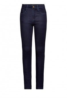 Брюки из джинсовой ткани для женщины цвет темносиний