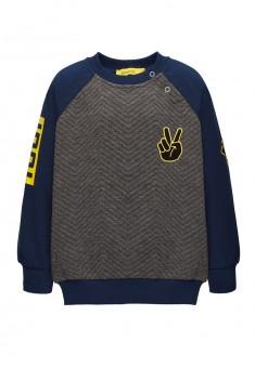 Трикотажный пуловер для мальчика цвет чернильный