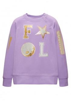 Трикотажный пуловер для девочки цвет лавандовый