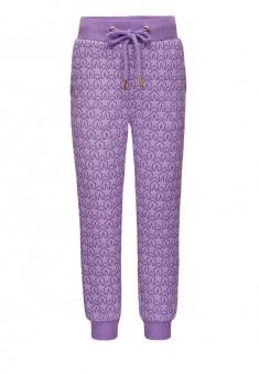 Трикотажные брюки для девочки цвет лавандовый