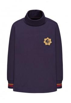 146B2901 Džemperis ar augstu apkakli zēnam piesātināti zilā krāsā