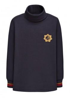146B2901 Džemperis ar augstu apkakli zēnam zilā krāsā