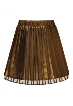 Юбка для девочки цвет золотой