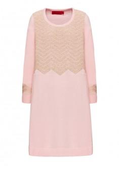 Трикотажное платье для девочки цвет светлорозовый