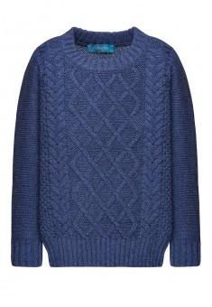 156B2301 Adīts džemperis zēnam tumši zilas melanžas krāsā