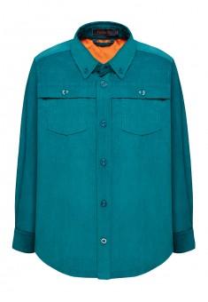156B2601 Velveta krekls ar garām piedurknēm zēnam smaragda krāsā