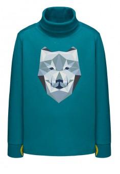 156B2901 Trikotāžas džemperis zēnam smaragda krāsā ar apdruku