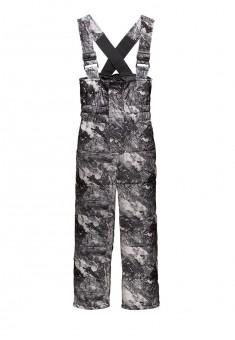 156B3201 Siltinātas bikses zēnam tumši pelēkā krāsā ar apdruku un lencēm