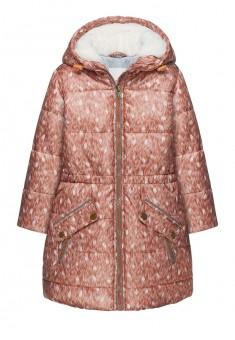 Куртка утепленная для девочки цвет коричневый