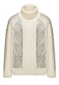Трикотажный свитер для девочки цвет молочный