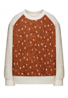 KNITTED PULLOVER FOR GIRLS MILK
