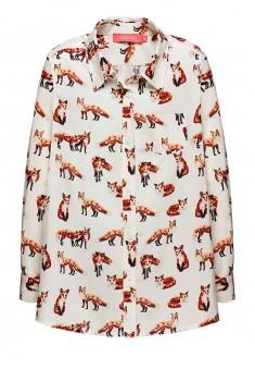 Блузка с длинным рукавом для девочки цвет молочный