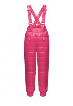 Утепленные брюки для девочки цвет малиновый