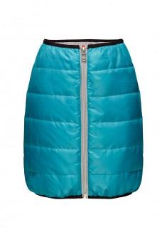 Утепленная юбка для девочки цвет бирюзовый