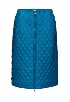 Утепленная юбка для женщины цвет морская волна