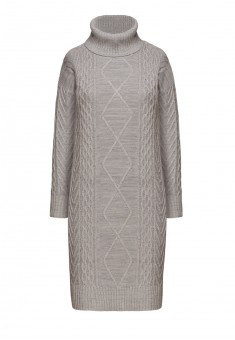 Трикотажное платье с длинным рукавом цвет серый