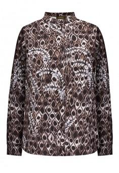 Блузка с длинным рукавом цвет серокоричневый