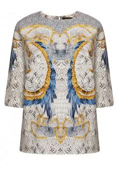 Трикотажная блузка с рукавом 34 цвет светлосерый